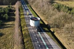 Groot tank transport voor Teijin Aramid in Emmen