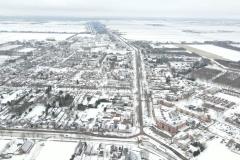 Emmer-Compascuum vanuit de lucht tijdens winterse omstandigheden